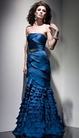 Claudine for Alyce Ruffle Trumpet Dress 2015 image