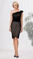 Size 16 Black-Cashmere Caterina 2019 One Shoulder Short MOB Dress image