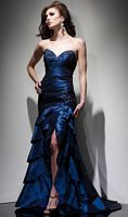 Claudine for Alyce Stretch Taffeta Dress with Beading 2021 image