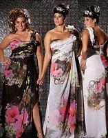 Size 16W White-Multi MacDuggal Fabulouss Plus Size Prom Dress 2034F image