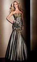 Claudine for Alyce Beaded Lace Mermaid Prom Dress 2040 image