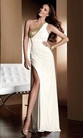 Claudine for Alyce Elegant Jersey Sheath Prom Dress 2043 image