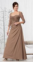 Caterina 2046 MOB Dress with Sheer Sleeves image