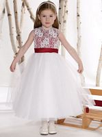 Joan Calabrese for Mon Cheri Tulle Flower Girls Dress 211301 image