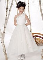 Joan Calabrese for Mon Cheri One Shoulder Flower Girls Dress 211305 image