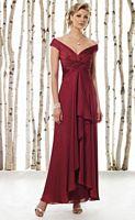 Tip of the Shoulder Mother of the Bride Dress Cameron Blake 211618 image