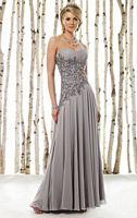 Cameron Blake Beaded Asymmetrical Chiffon Evening Dress 211620 image