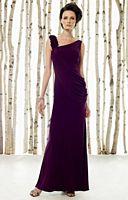 Cameron Blake Asymmetrical Draped Jersey MOB Evening Dress 211621 image
