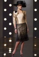 Social Occasions by Mon Cheri Shantung and Lace Jacket Dress 211823 image
