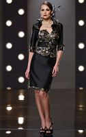 Mon Cheri Social Occasions Black Brocade Contemporary Suit 211824 image