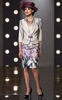 Dramatic Floral Print Jacket Dress Mon Cheri Social Occasions 211828 image