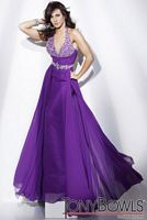 Tony Bowls Collection Jeweled Empire Halter Pageant Dress 211C59 image