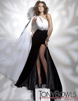 Tony Bowls Collection Chiffon and Velvet Mermaid Pageant Dress 211C61 image
