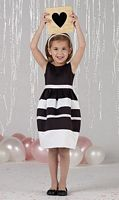 Joan Calabrese by Mon Cheri Girls Black and White Dress 212372 image