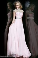Sherri Hill 21254 Cap Sleeve Sheer Beaded Formal Dress image