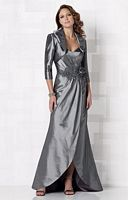 Size 18 Pewter Cameron Blake Tulip Hem Evening Dress 212675 image