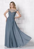 Cameron Blake Cap Sleeve Evening Dress 212676 with Illusion image