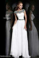 Sherri Hill 21272 Cap Sleeve Sheer Beaded Gown image