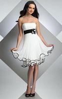 Bari Jay Short Pleated Two Tone Bridesmaid Dress 213 image