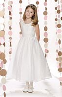 Size 5 Ivory Joan Calabrese 213306 for Mon Cheri Girls Dress image