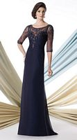 Montage 213967 Formal Dress with Illusion Sleeves image