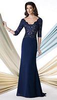 Size 18 Black Montage 213978 Three Quarter Sleeve Evening Dress image