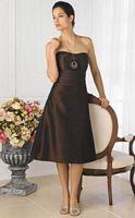 House of Wu Pretty Maids Tea Length Taffeta Bridesmaid Dress 22316 image