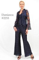 Damianou Lace 3pc Mother of the Bride Pant Set 2233 image