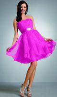 Jordan Short Strapless Organza Bridesmaid Dress 225 image