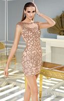 Alyce Claudine 2290 Cap Sleeve Illusion Cocktail Dress image