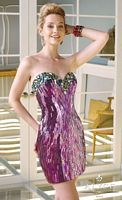 Alyce Claudine 2309 Mirror Sequin Short Party Dress image