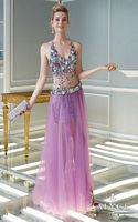 Alyce Claudine 2313 Illusion Dress with Removable Long Skirt image
