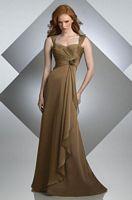 Size 12 Bari Jay Bronze Iridescent Chiffon Long Bridesmaid Dress 233 image