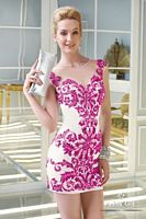 Alyce 2348 Claudine Illusion Short Prom Dress image