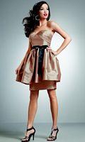 Jordan Iridescent Taffeta Short Bridesmaid Dress 238 image
