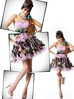 BabyDoll by MacDuggal Sequin Flower Petal Short Prom Dress 2536B image