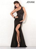 Jovani 2555 One Shoulder Illusion Formal Dress image