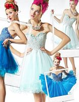 BabyDoll by MacDuggal Sequin Tulle Short Prom Dress 2585B image