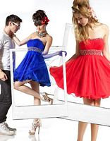 BabyDoll by MacDuggal Sequin Empire Short Prom Dress 2589B image