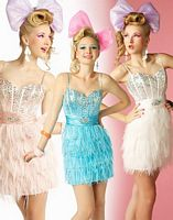 BabyDoll by MacDuggal Feather Skirt Short Prom Dress 2594B image