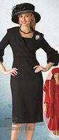 Lily and Taylor Womens Dress 2606 with Faux Fur Trim image