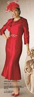 Lily and Taylor 2608 Womens Silk Dress image