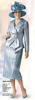 Lily and Taylor 2609 Womens Lace Skirt Suit image