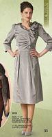 Lily and Taylor 2612 Womens Iridescent Taffeta Dress image