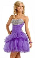 Size 4 Lilac Princess by Party Time Short Prom Dress 2620 image