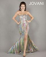 Jovani 2629 Beaded Mermaid Gown with Slit image