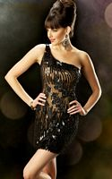 MacDuggal Evening One Shoulder Beaded Cocktail Dress 2646T image