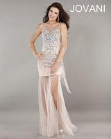 Jovani 2664 Sheer Illusion Formal Dress image
