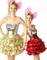 BabyDoll by MacDuggal Sequin Layer Ruffle Short Prom Dress 2665B image