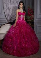 Quinceanera Collection Ruffle Dress by House of Wu 26690 image